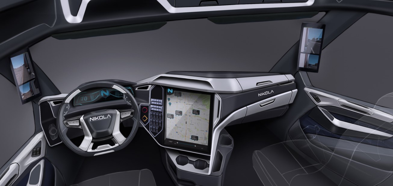 2021 Nikola Tesla Truck Interior